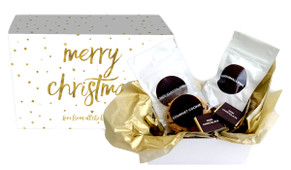 Gold Confetti Stars Christmas Personalised Hot Chocolate Kit