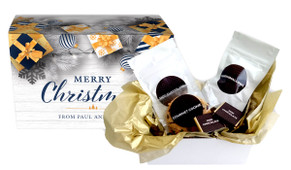 Navy Gold Gifts Christmas Personalised Hot Chocolate Kit