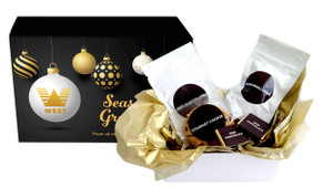 Luxury Black Christmas Personalised Hot Chocolate Kit