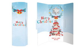 Christmas Puppies Personalised Chocolate Greeting Card