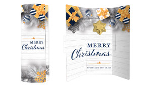 Navy Gold Gifts Christmas Chocolate Greeting Card