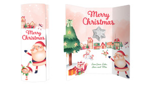 Christmas Village Personalised Chocolate Greeting Card
