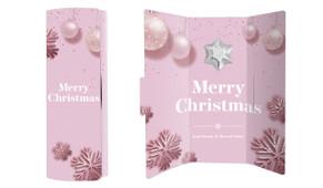Pink Theme Christmas Chocolate Greeting Card