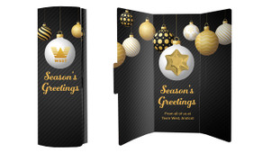 Luxury Black Personalised Christmas Chocolate Greeting Card