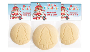 Christmas Puppies Personalised Large Christmas Cookie