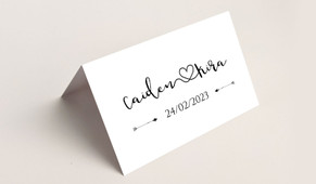 Cursive Names Wedding Place Cards With Guest Names Printed