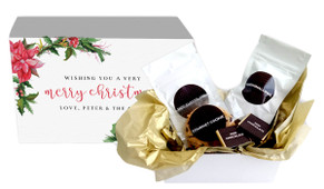 Poinsettia Christmas Personalised Hot Chocolate Kit