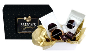 Glossy Gift - Black Personalised Christmas Hot Chocolate Kit