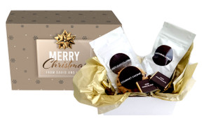 Glossy Gift - Gold Personalised Christmas Hot Chocolate Kit
