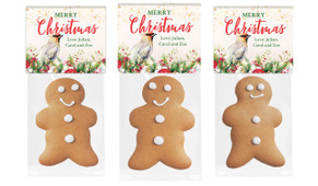 Beautiful Bird Christmas Gingerbread Man With Topper