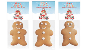 Christmas Puppies Gingerbread Man With Topper