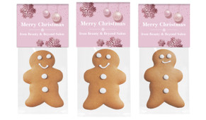 Pink Theme Christmas Gingerbread Man With Topper