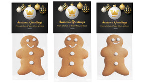 Luxury Black Christmas Gingerbread Man With Topper