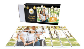 Luxury Black Christmas Personalised Chocolate Puzzle (48-Piece)