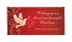 Dove In Gold Personalised Christmas Chocolates