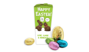 Chocolate Bunnies Personalised Easter Egg Chocabox