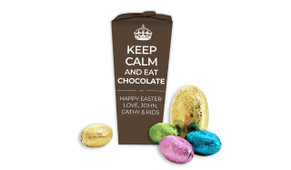 Keep Calm Personalised Easter Egg Chocabox