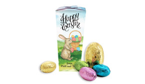 Bunny And Basket Personalised Easter Egg Chocabox