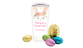 Bunny Face Personalised Easter Egg Chocabox
