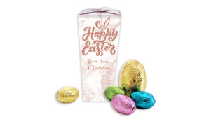 Rose Gold Personalised Easter Egg Chocabox
