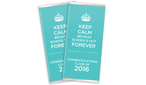 Keep Calm School's Out Forever Graduation Chocolates