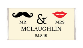 Mr & Mrs Personalised Wedding Chocolates