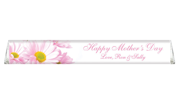 Pink Daisies Personalised Toblerone Mother's Day Chocolates