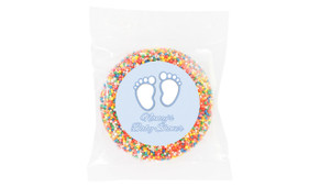 Baby Feet In Blue Baby Shower Giant Chocolate Freckle