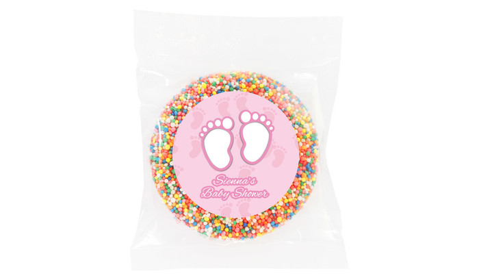 Baby Feet In Pink Baby Shower Giant Chocolate Freckle