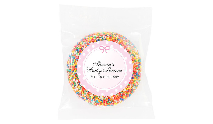 Polkadot Pink Baby Shower Giant Chocolate Freckle