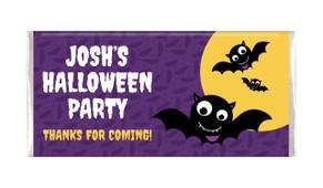 Bat Halloween Personalised Chocolate Bar