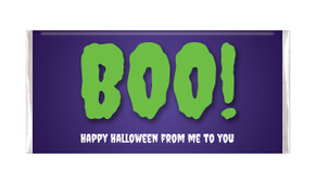 Boo Halloween Personalised Chocolate Bar