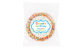 Happy Dots Personalised Birthday Chocolate Freckle