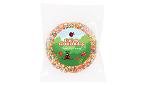 Lady Bug Personalised Birthday Chocolate Freckle