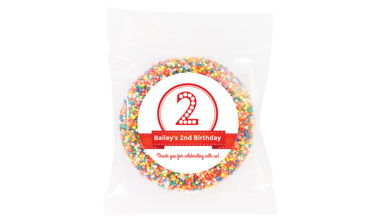 Number In Red Personalised Birthday Chocolate Freckle