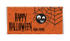 Spider Halloween Personalised Chocolate Bar