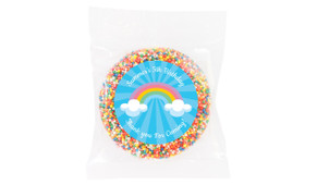 Rainbow Personalised Birthday Chocolate Freckle