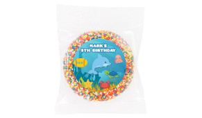 Under The Sea Personalised Birthday Chocolate Freckle
