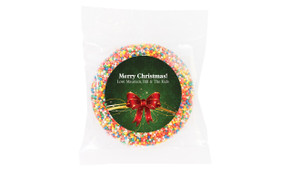 Christmas Bow Personalised Chocolate Freckle