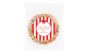Stripes In Red Personalised Chocolate Freckle