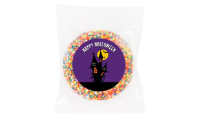 Haunted House Personalised Halloween Chocolate Freckle