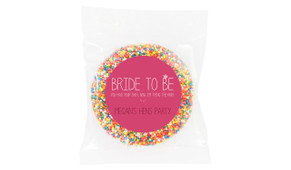 Bride To Be Personalised Hens Night Chocolate Freckle