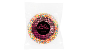 Pink Disco Personalised Hens Night Chocolate Freckle