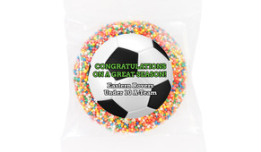 Soccer Personalised Chocolate Freckle