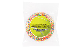 Tennis Ball Personalised Chocolate Freckle