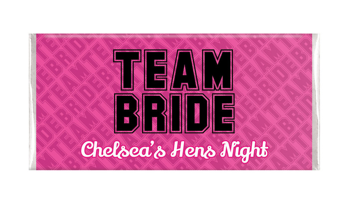 Team Bride Hens Night Personalised Chocolates