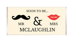 Mr & Mrs Engagement Personalised Chocolate Bar