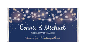 Night Lights Personalised Engagement Chocolate Bar