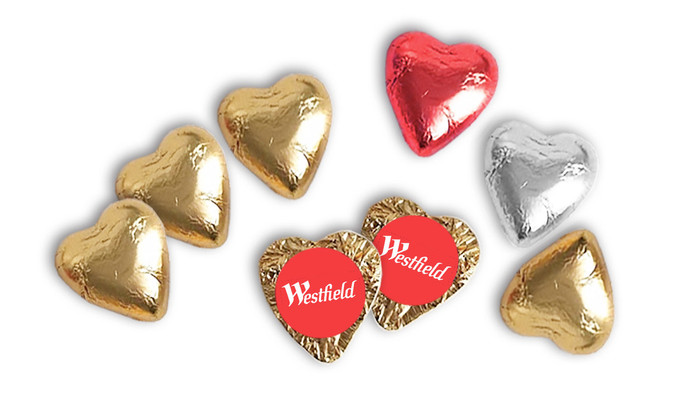 Foil Covered Chocolate Hearts