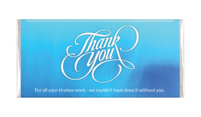 Cursive Thank You Personalised Chocolate Bar
